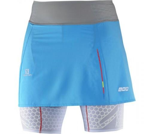 Pantalon/ Fusta Salomon W S-Lab Exo Skort Albastra