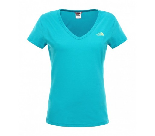 Tricou The North Face W S/S Simple Dome Turquoise