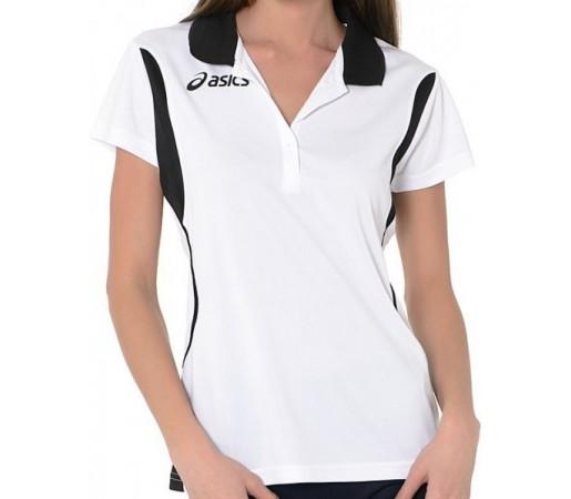 Tricou Polo Asics Samantha Alb/Negru