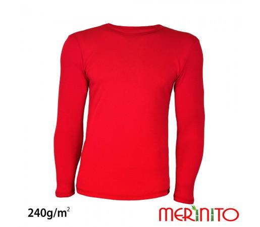Tricou Merinito Merinos + Bambus 240g M Rosu
