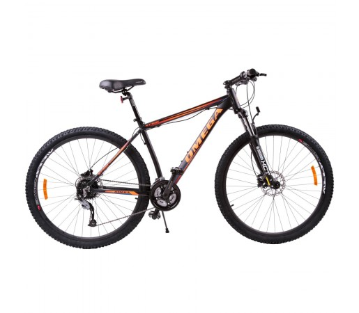 "Bicicleta Mountain Bike Omega Bettridge 29"" Negru / Portocaliu"