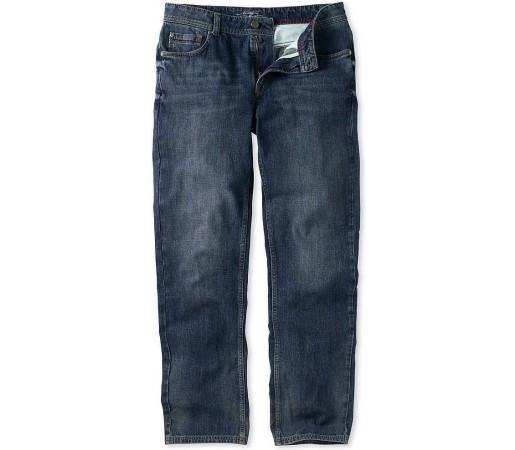 Pantaloni Crew Clothing Parker Straight Leg Mid Wash