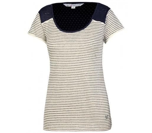 Tricou Crew Clothing Monica Top Albastru/Alb