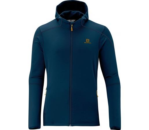 Bluza Salomon Discovery Hooded Midlayer M Blue