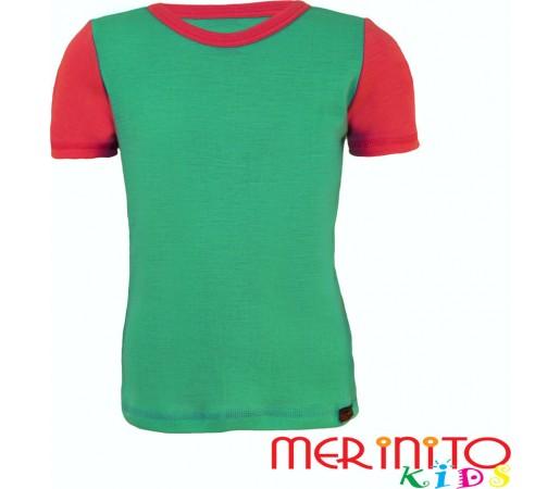 Tricou copii Merinito maneca scurta Turquoise/Roz
