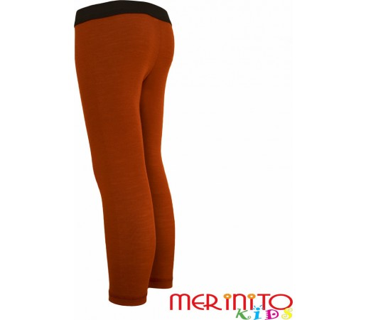 Pantaloni first layer copii Merinito Portocaliu