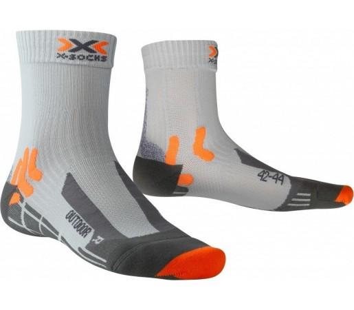 Sosete X-Socks Trekking Outdoor Man Silver/Orange/Black