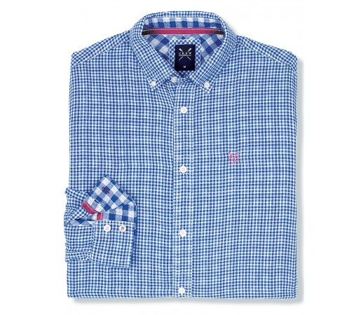 Camasa Crew Clothing Bardsey Check Albastra