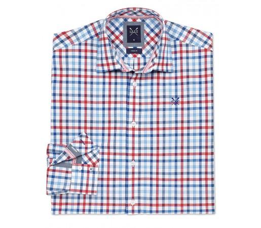 Camasa Crew Clothing Calshot Shirt Portocaliu/Albastru