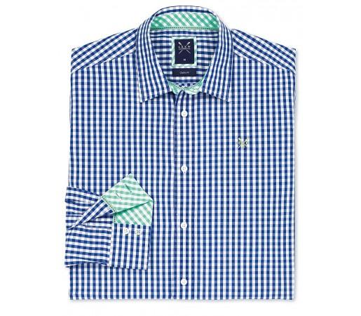 Camasa Crew Clothing Classic Gingham Albastru Deschis