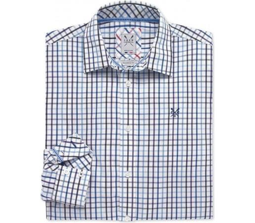 Camasa Crew Clothing Pinpoint Blue