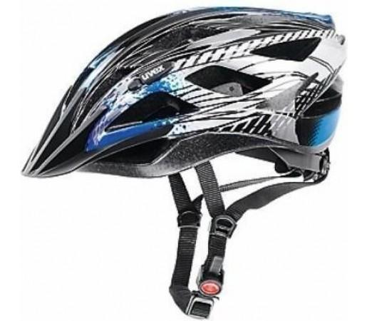 Casca bicicleta Uvex Xenova Black- Silver- Blue