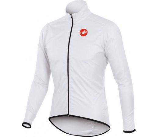Jacheta de ploaie pentru ciclism Castelli Squadra Long Alba