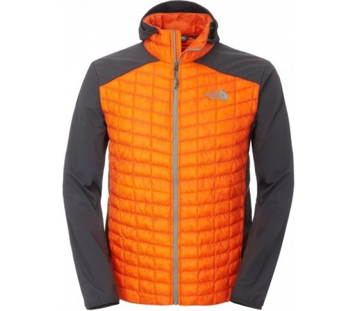Geaca The North Face M Thermoball Hybrid Hoodie Portocaliu/Gri