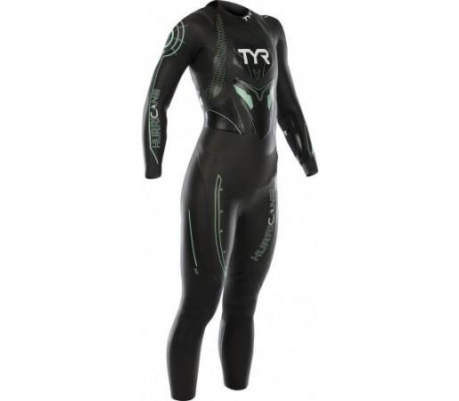 Costum neopren Tyr Hurricane W Wetsuit Cat. 3 Negru