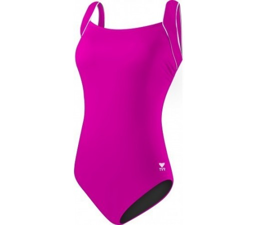 Costum de baie Tyr Solid Square Neck Tank Pink