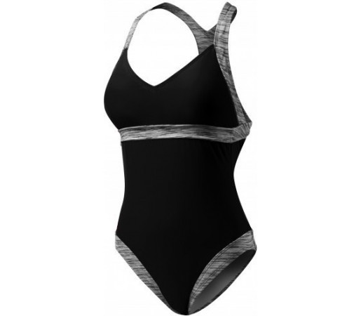 Costum de baie Tyr Sonoma V-Neck Open Back Negru