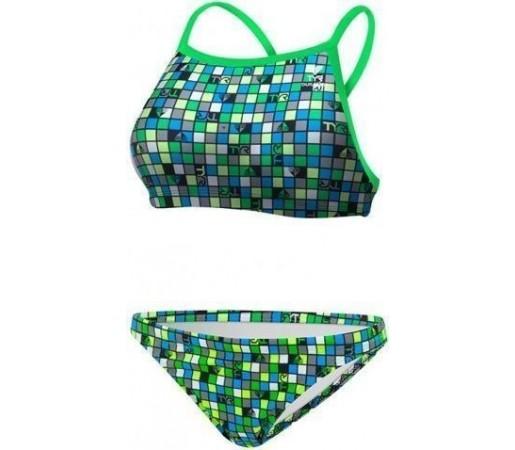 Costum de baie Tyr Check DiamondFit Blue Green