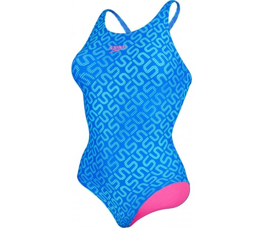 Costum de baie Speedo Woman Monogram Allover Muscleback Albastru