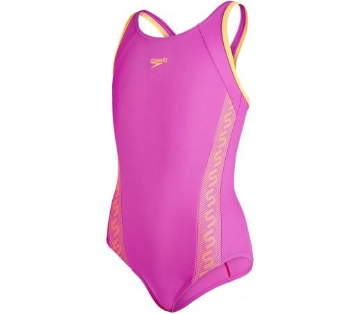 Costum de baie Speedo Girl Monogram Muscleback Roz/Portocaliu