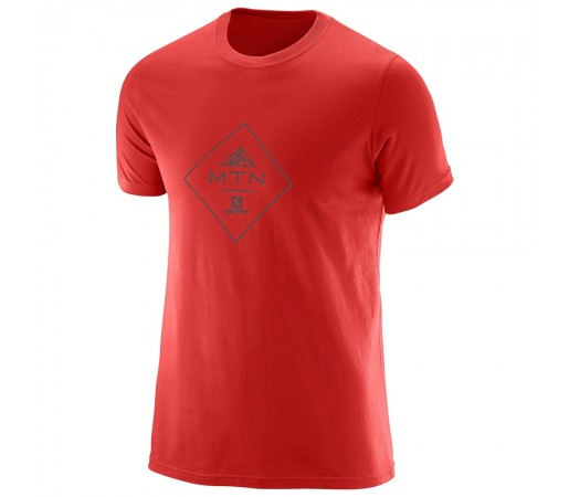 Tricou Salomon Mtn Cotton Tee M Rosu