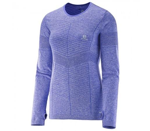 Bluza Salomon Elevate Seamless Ls Tee W Albastra