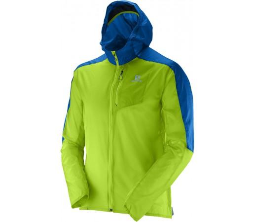 Geaca Salomon Fast Wing Hoodie M Verde/Albastru