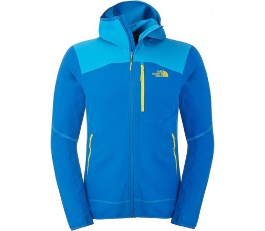 Geaca The North Face M New Summer Softshell Hoodie Albastru