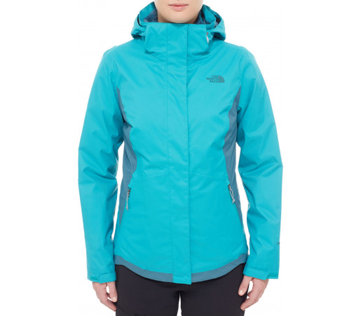 Geaca The North Face Mossbud Swirl Triclimate Albastra