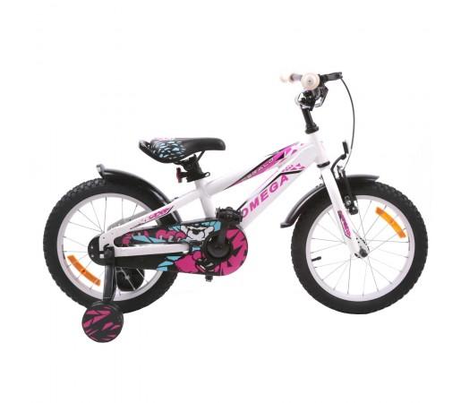 """Bicicleta Copii Omega Gerald 16"""" 2019 Alb"""