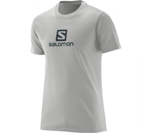 Tricou Salomon M Logo Gri