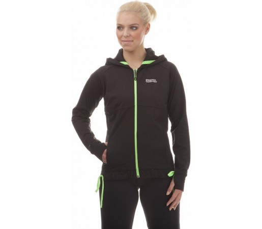 Hanorac Nordblanc Snappy Ladie's Powerfleece Fitness Negru