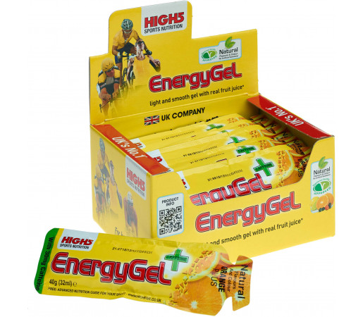 Gel energizant High 5 Energy gel + Portocale