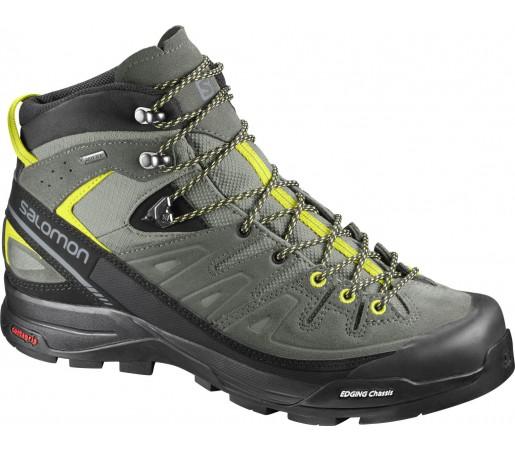 Incaltaminte Hiking Salomon X Alp Mid Ltr GTX M Kaki