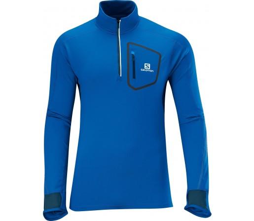 Bluza Salomon Trail Runner Warm Ls Zip Blue