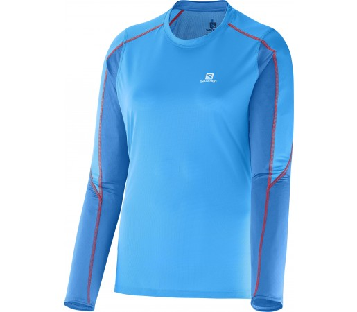 First Layer Salomon Trail Runner LS Tee W Blue