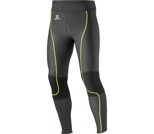 Pantaloni Compresie Salomon Exo M Black