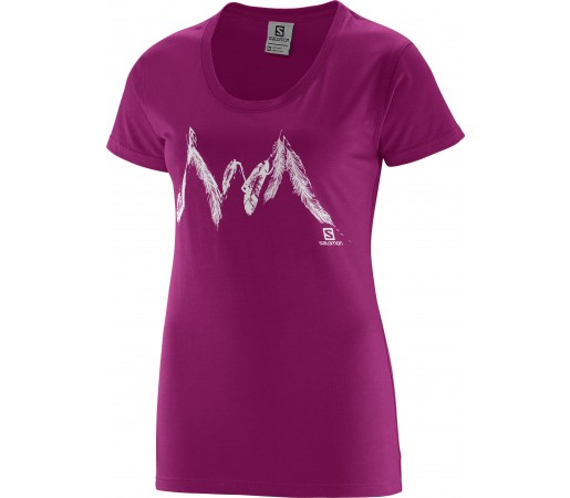 Tricou Salomon Feather Mountain SS W Pink