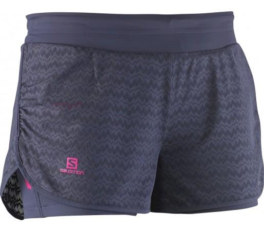 Pantaloni Salomon Elevate Short W Bleumarin