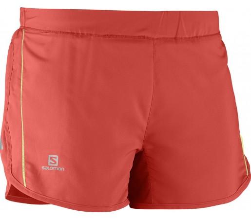 Pantaloni Salomon Agile Short W Rosii