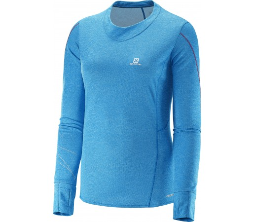 Bluza tehnica Salomon Park LS W Albastra