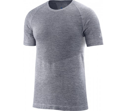 Tricou Hiking Salomon Allroad Seamless SS M Gri Inchis