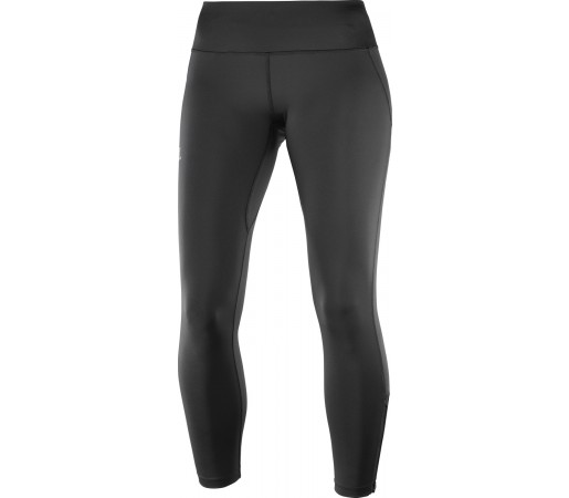 Pantaloni Femei Alergare Salomon Agile Long Tight Negru