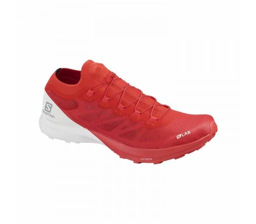 Salomon Pantofi Alergare Barbati  S/Lab Sense 8 Racing Red/White/Wh (Rosu)