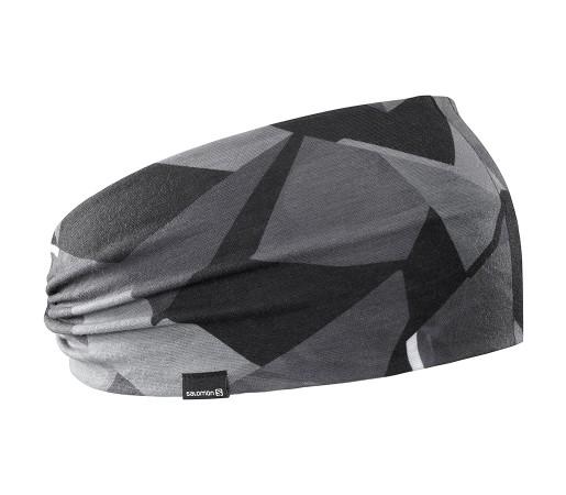 Bentita Alergare Salomon Light Headband Negru / Gri