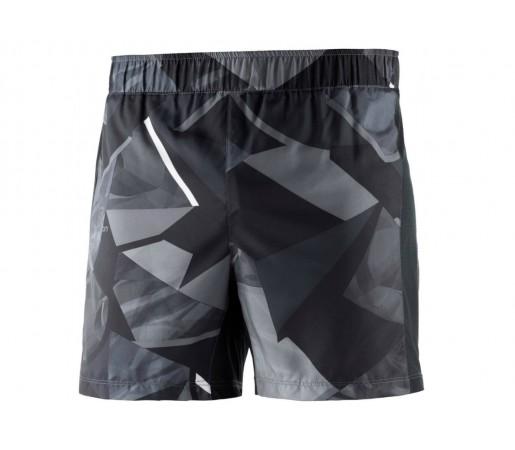 Pantaloni scurti Barbati Alergare Salomon Agile 5'' Negru / Bleumarin / Print