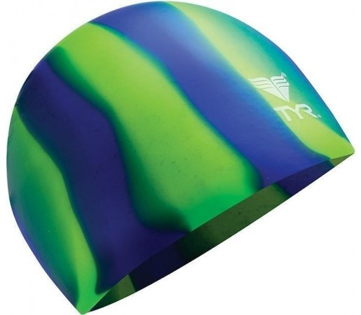 Casca inot Tyr Multicolor Silicon verde 2013