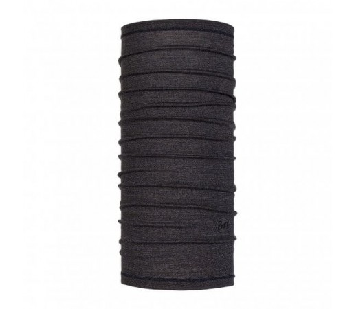Neck Tube Buff Lightweight Wool Cubic Charcoal