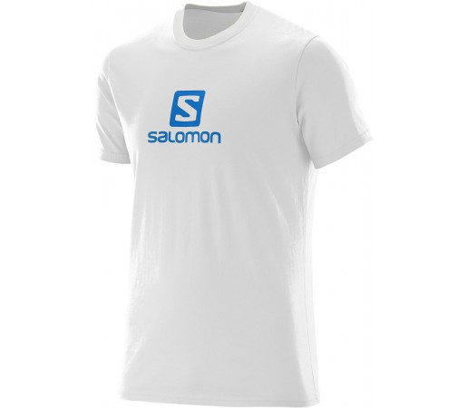 Tricou Salomon Logo SS Cotton Tee M Alb