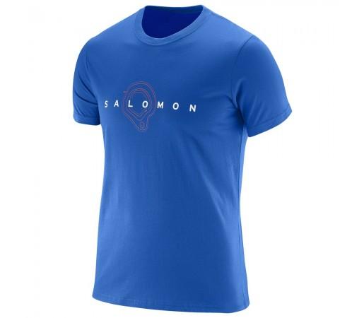 Tricou Salomon Map Ss Cotton Tee M Albastru